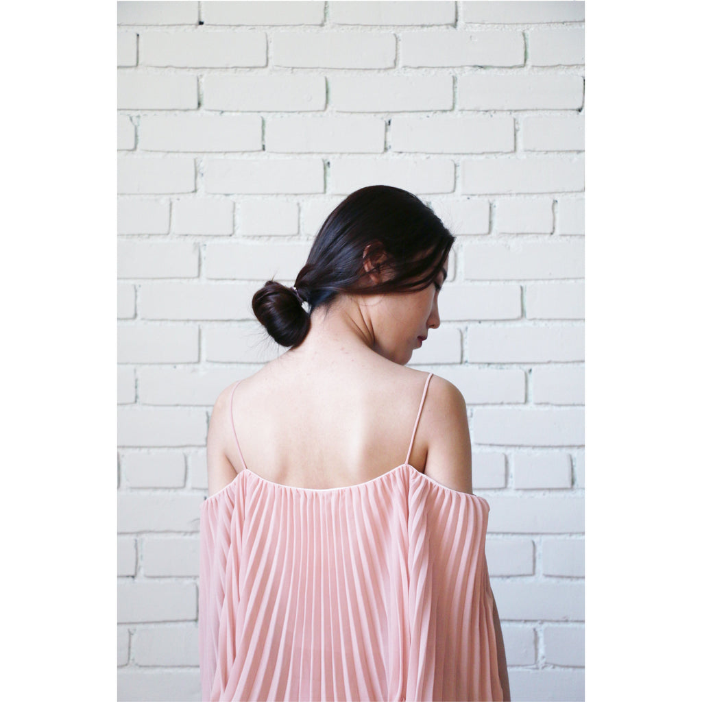 ABS | Pleated Popover Dress