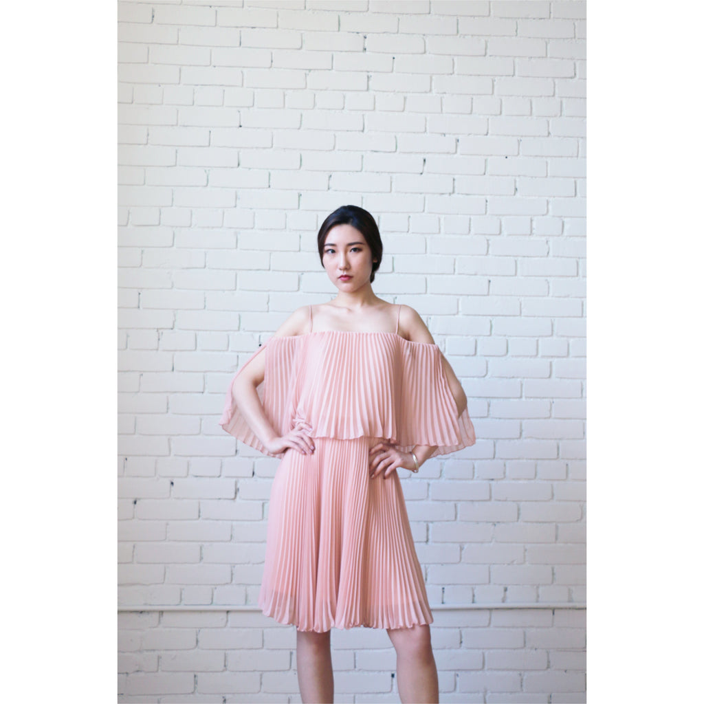 ABS | Pleated Popover Dress - Fresh Fashion Library