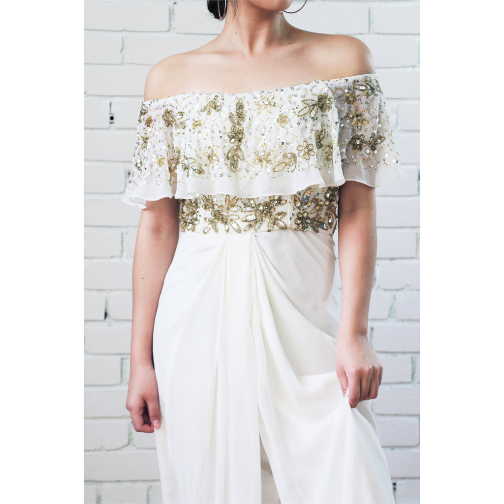 Virgo's Lounge | Off-the-Shoulder Gown - Fresh Fashion Library