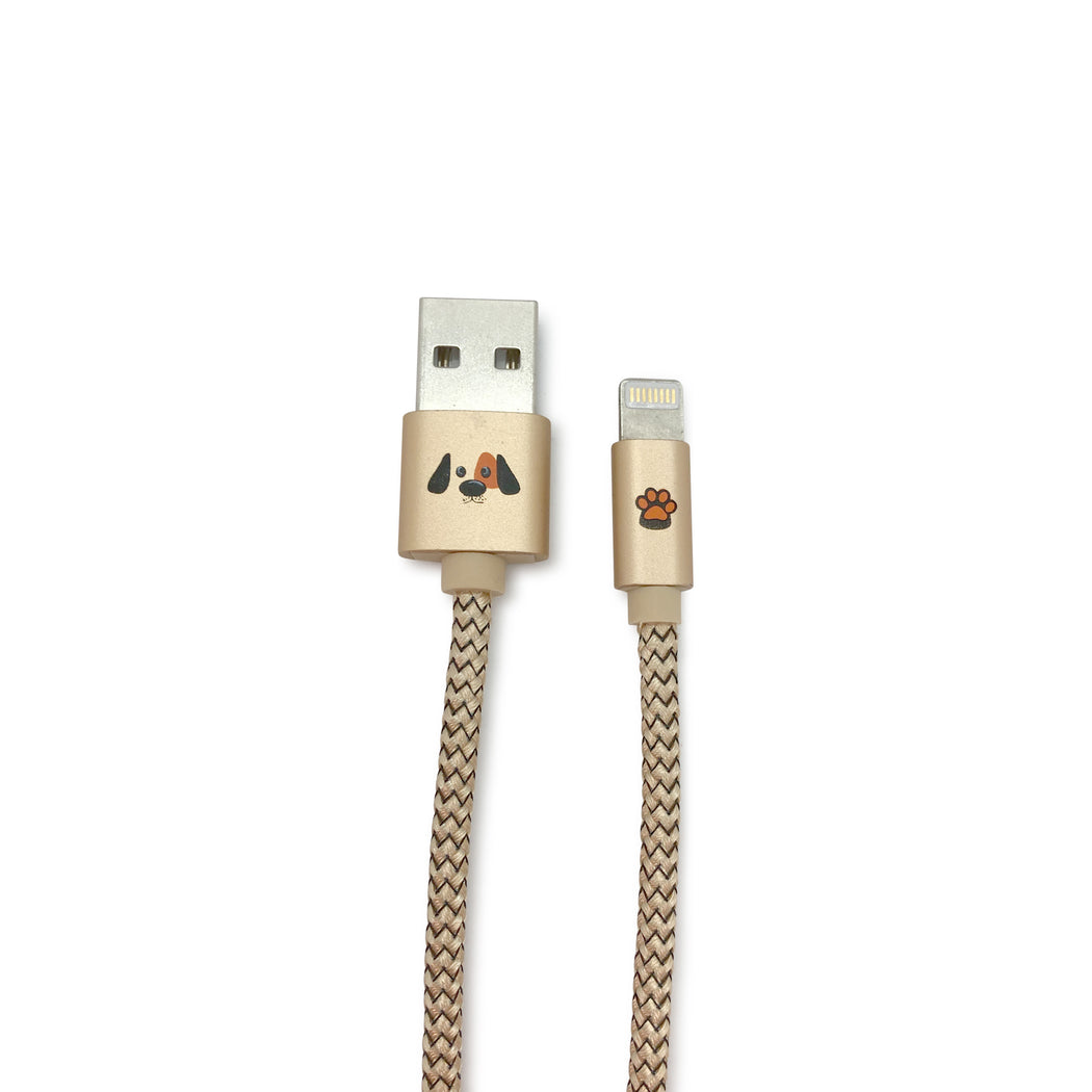 Lightning Cable, Nylon Braided Long Cord Fast Charging USB Sync Charger Cables Charging Cord for iPhone and iPad - Cute Cat and Dog Design (3 Feet/0.9 Meter) 04