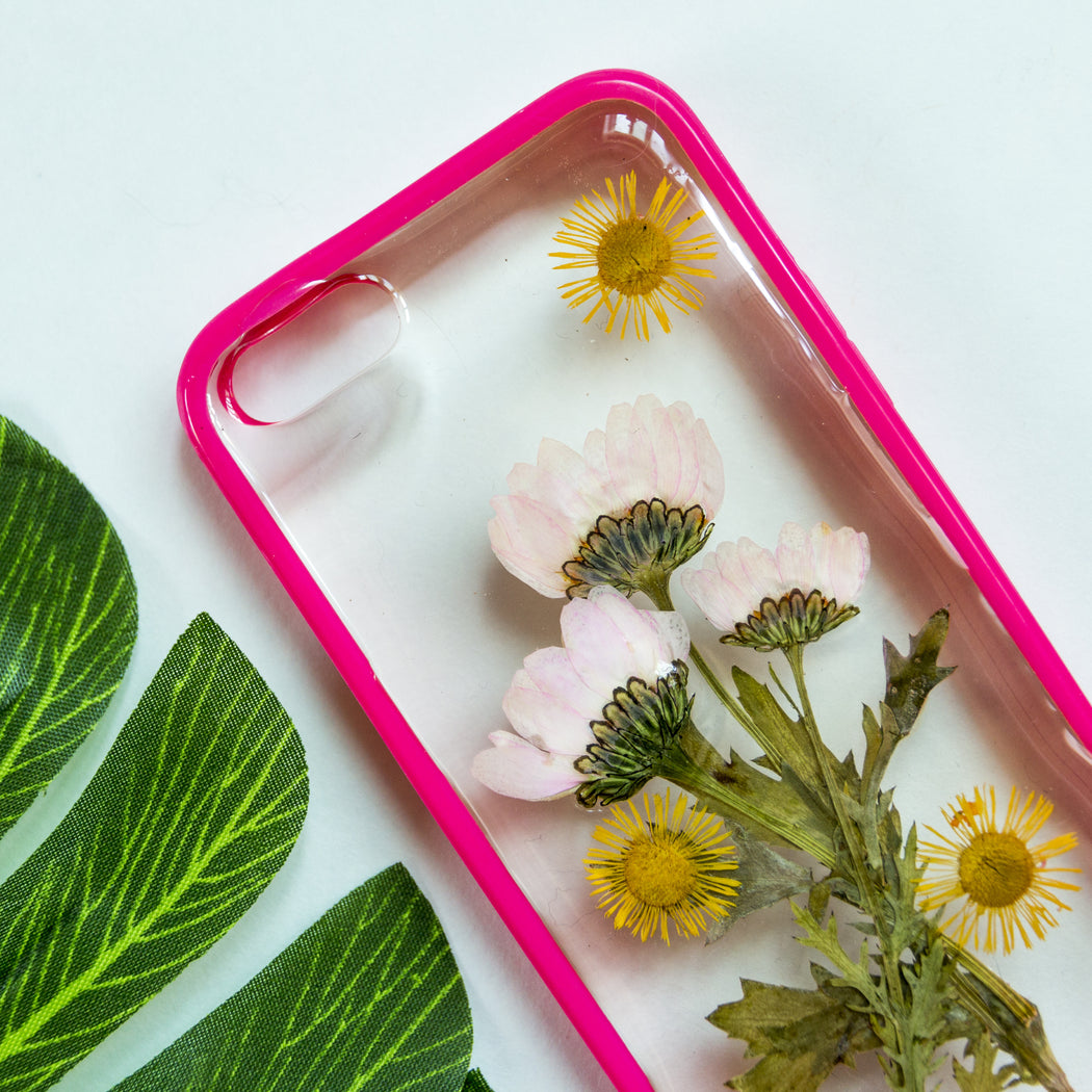 Apricot | Pressed Flower iPhone Bumper Case | iPhone 5/5s/SE