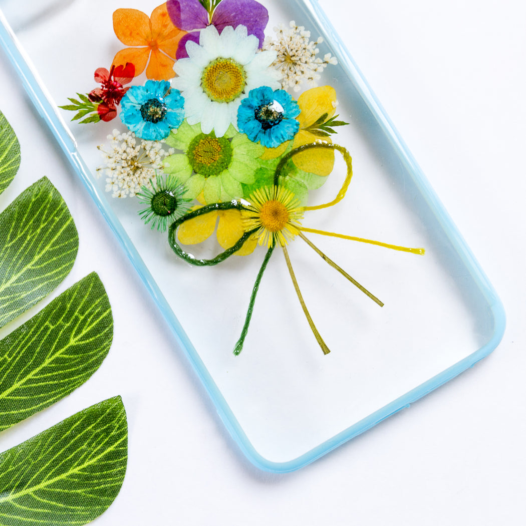 Blue Bouquet | Pressed Flower iPhone Bumper Case | iPhone 6/6s Plus