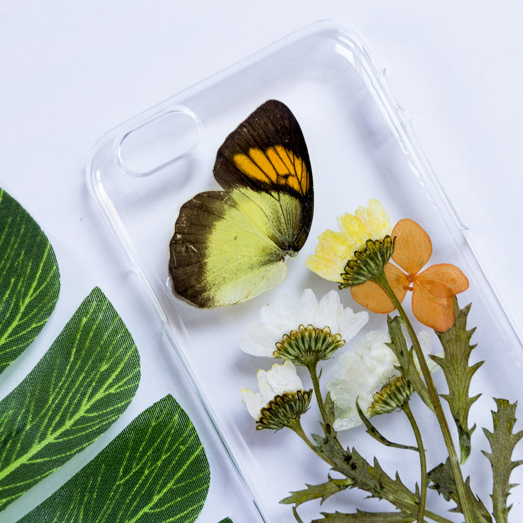 Butterfly Garden | Pressed Flower iPhone Case | iPhone 6/6s