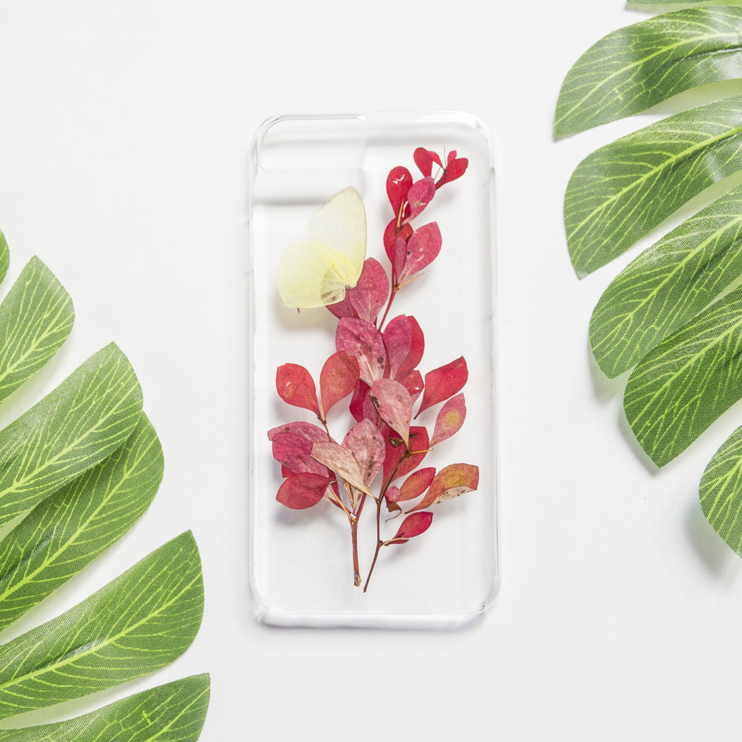 Butterfly Kiss | Pressed Flower iPhone Case | iPhone 7/8