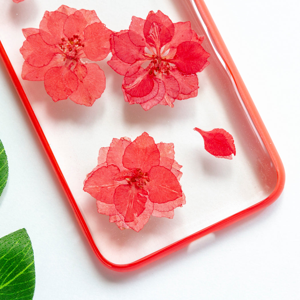 Cerise | Pressed Flower iPhone Bumper Case | iPhone 7/8