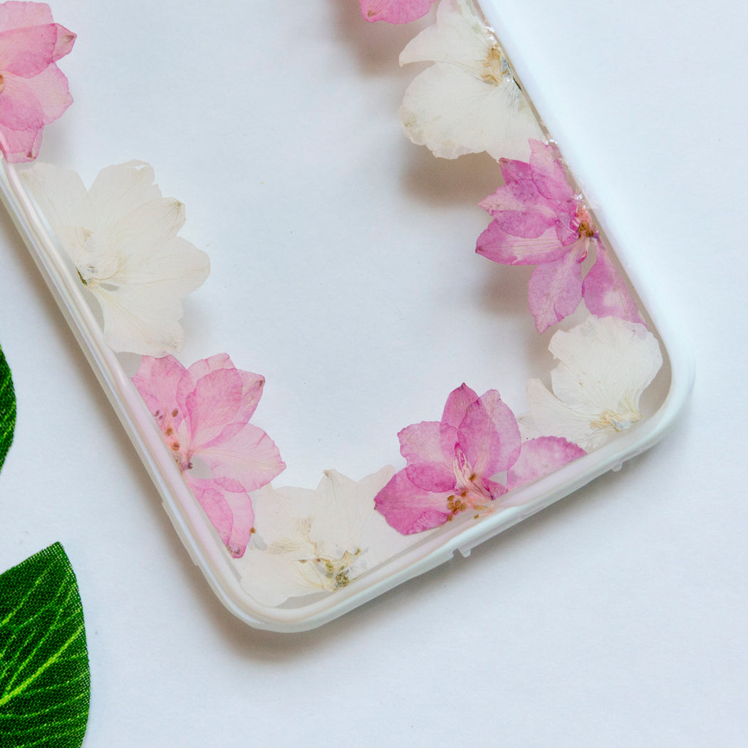 Cherry Blossom Garden | Pressed Flower iPhone Bumper Case | iPhone 6/6s