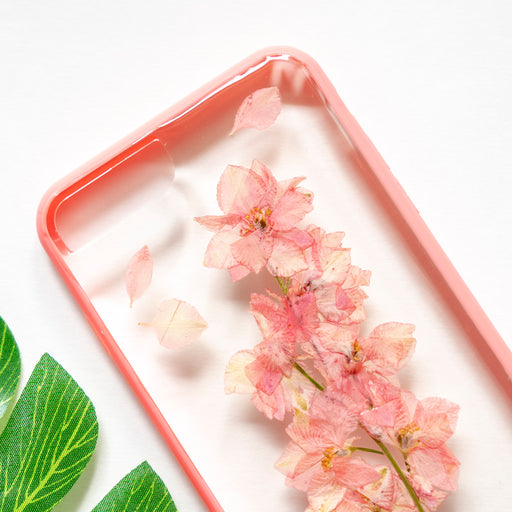 Soft Pink | Pressed Flower iPhone Bumper Case | iPhone 7/8 Plus
