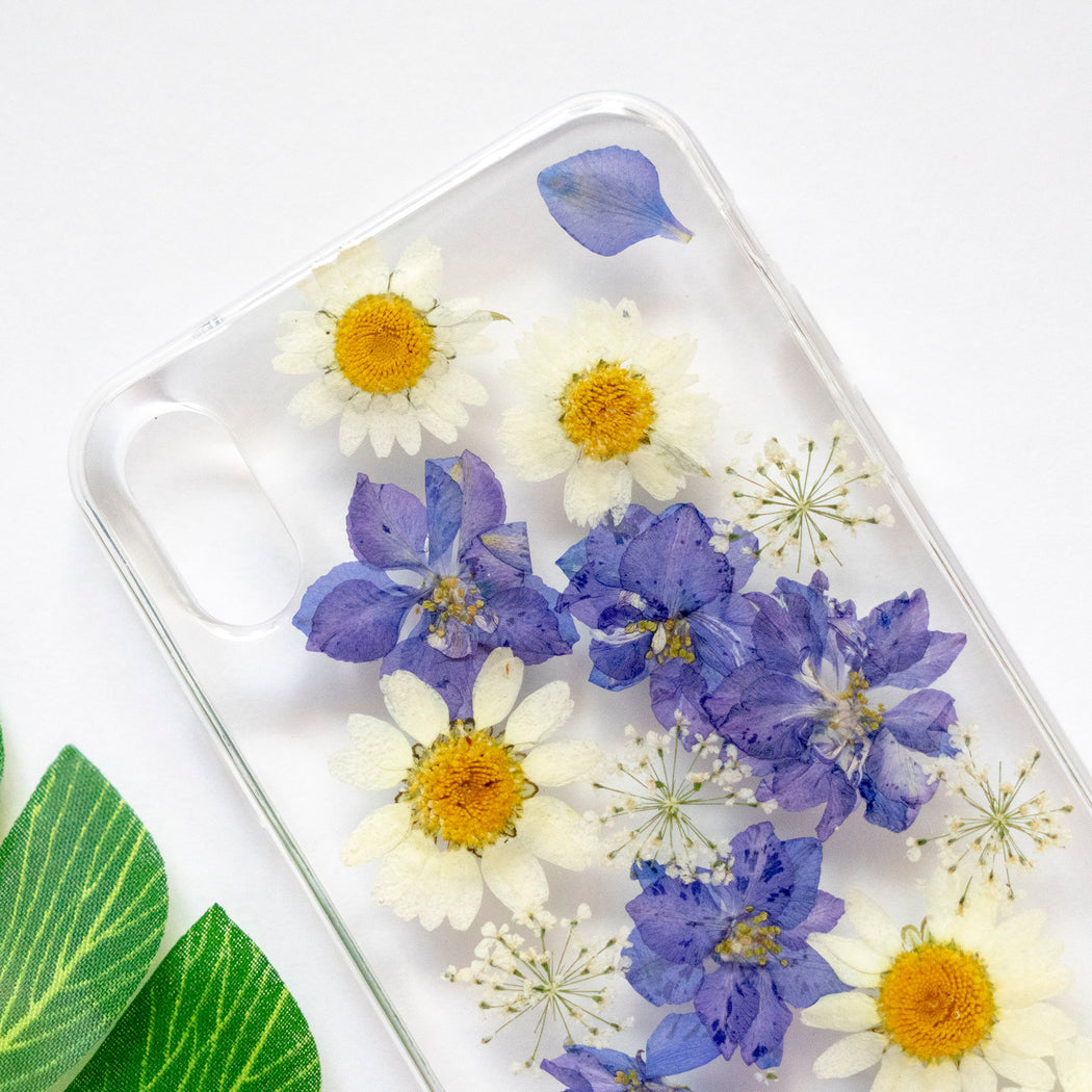 Pressed Purple Flower iPhone Soft TPU Bumper Case Floral Neverland Floralfy 02