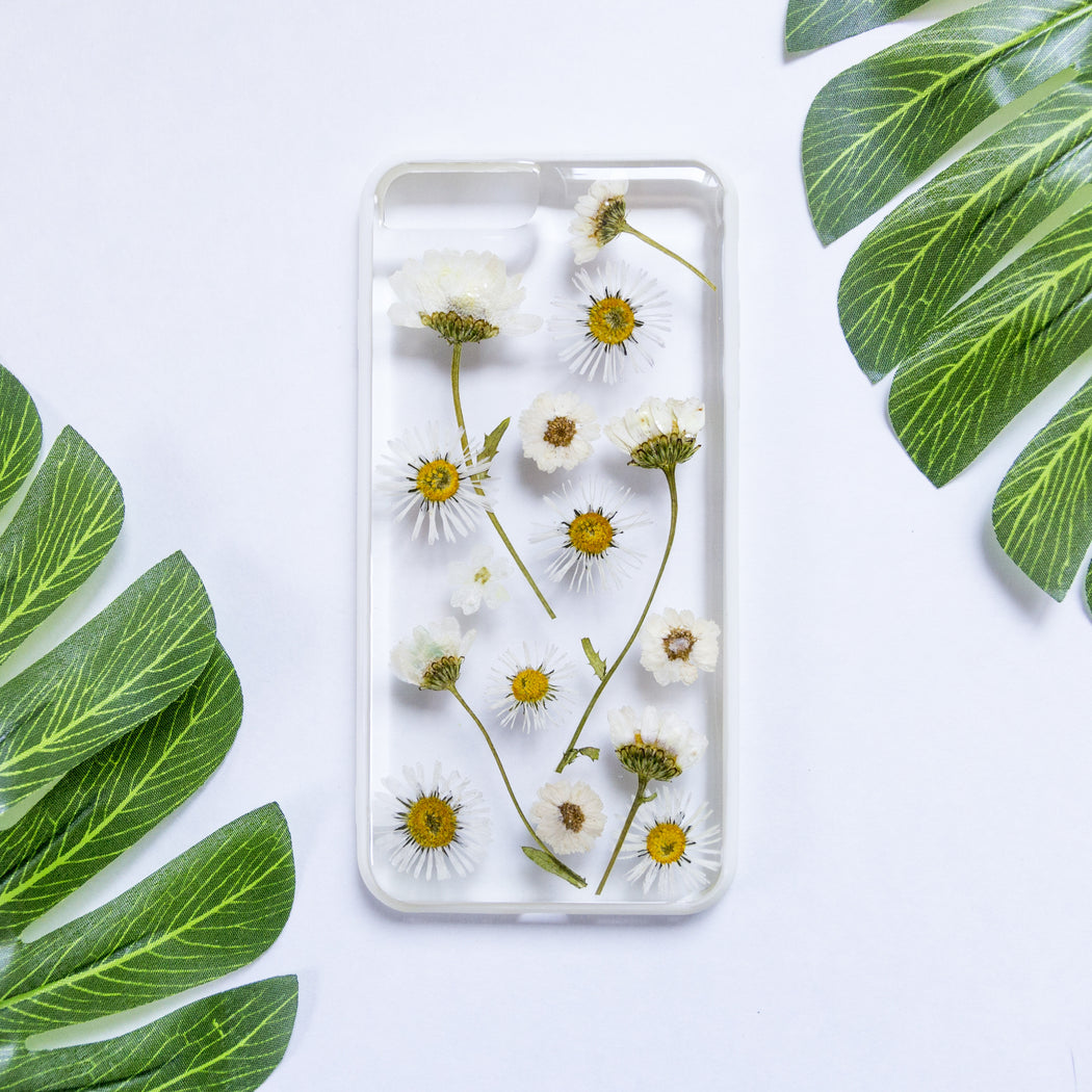 Daisy Dreams | Pressed Flower iPhone Bumper Case | iPhone 7/8 Plus