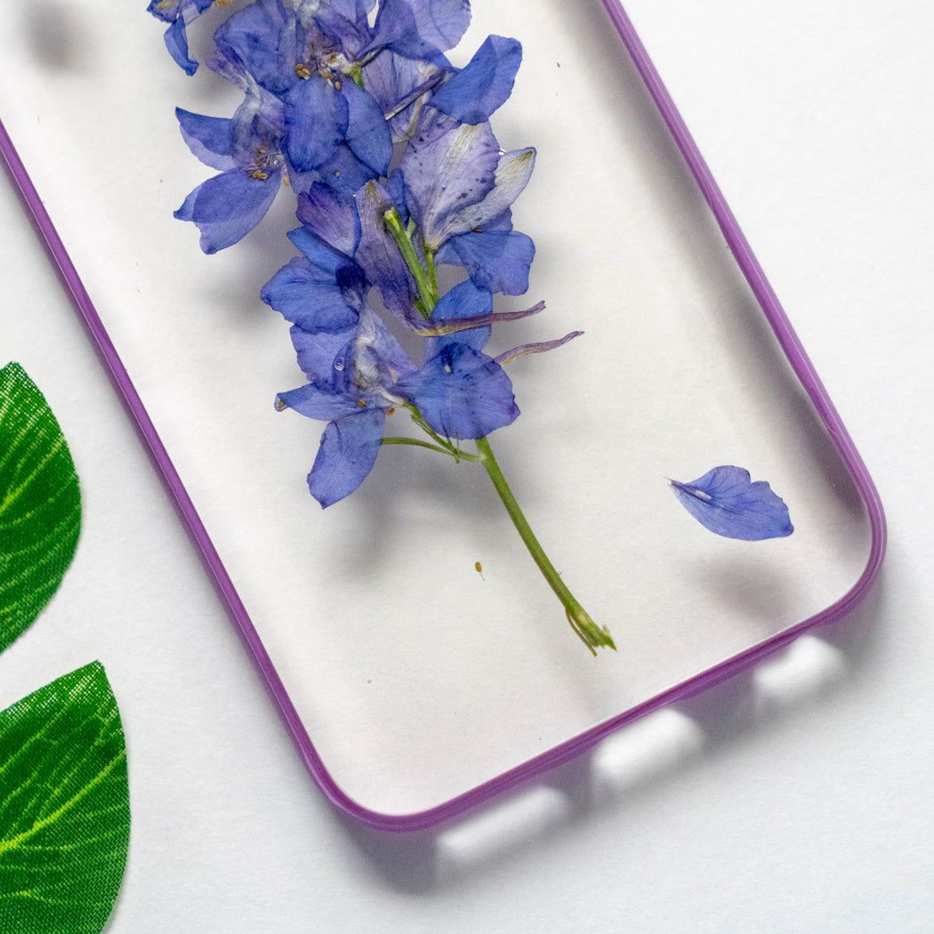Real Pressed Purple Flower Floral iPhone 6 6s Protective Bumper Case Floral Neverland Floralfy 03