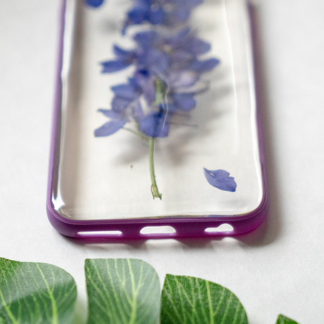Real Pressed Purple Flower Floral iPhone 6 6s Protective Bumper Case Floral Neverland Floralfy 06