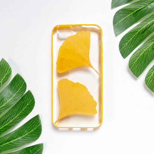 Floral Neverland Floralfy Ginger Real Pressed Yellow Ginkgo Leaf Flower Floral Foliage Botanical iPhone 6 iPhone 6s Bumper Case 01