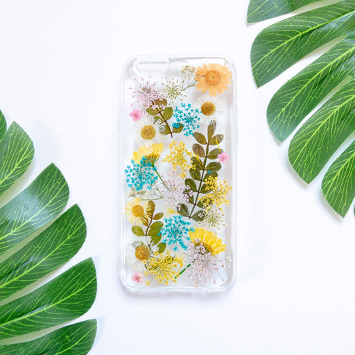 Floral Neverland Floralfy Rainbow Real Pressed Assorted Flower Floral Foliage Botanical iPhone 6 iPhone 6s Bumper Case 01