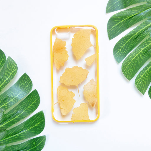 Floral Neverland Floralfy Butterscrotch Real Pressed Yellow Ginkgo Leaf Flower Floral Foliage Botanical iPhone 6 iPhone 6s Bumper Case 01