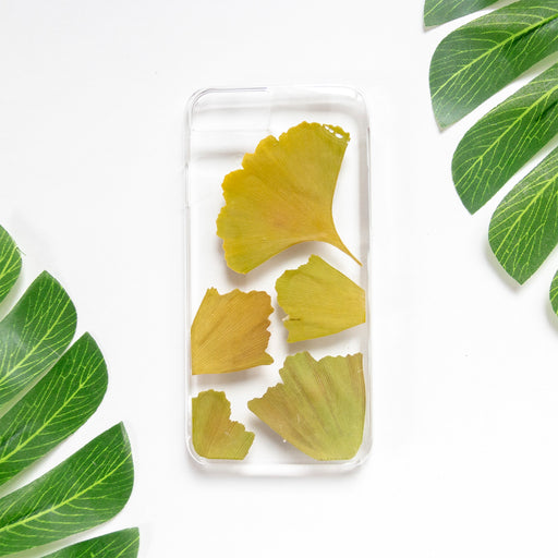 Maidenhair Floral Neverland Floralfy Real Pressed Green Ginkgo Leaf Flower Floral Foliage Botanical Nature iPhone 7 8 Case 01