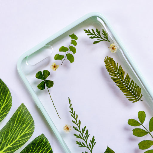 Forest Mix | Pressed Flower iPhone Bumper Case | iPhone 6/6s Plus