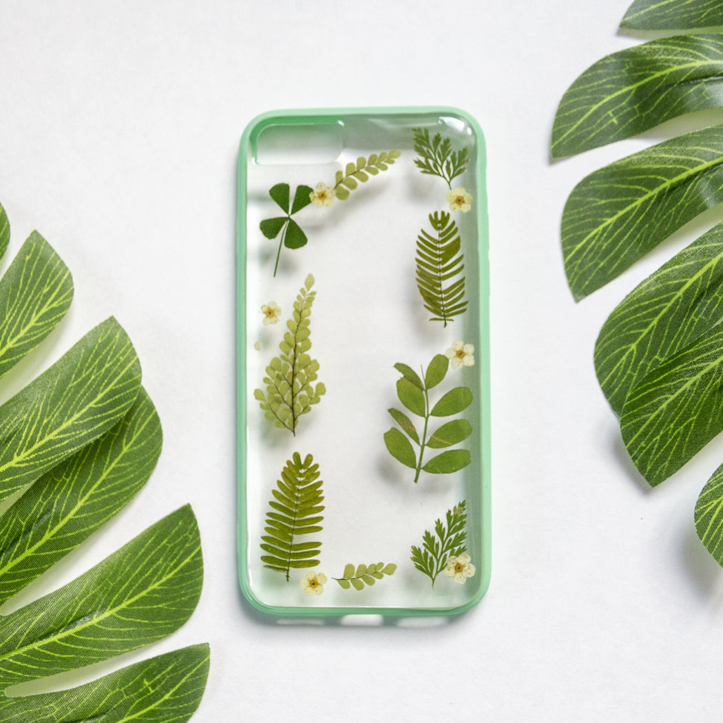 Forest Mix | Pressed Flower iPhone Bumper Case | iPhone 7/8