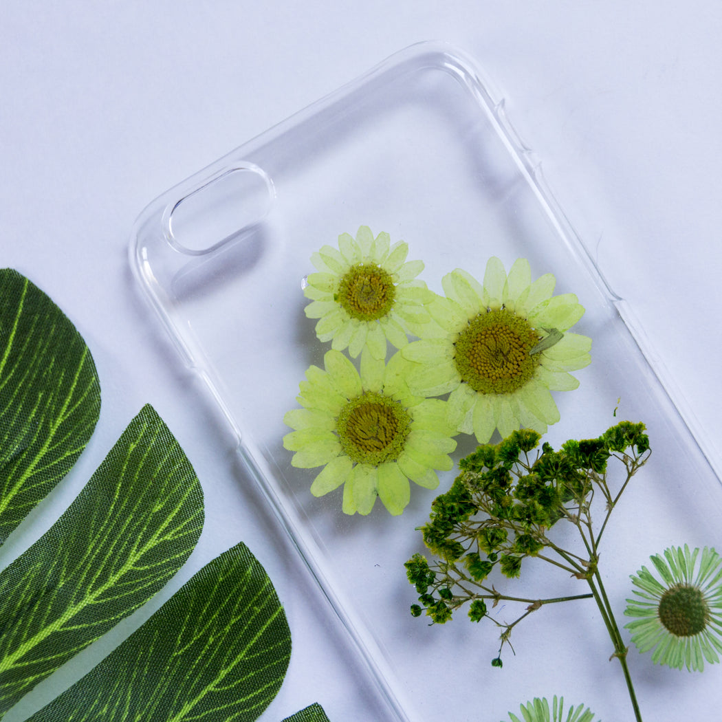 Green Sapphire | Pressed Flower iPhone Case | iPhone 6/6s