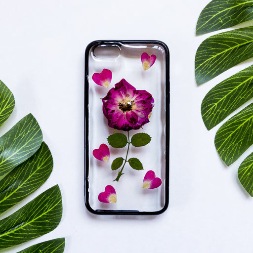 Heart Full of Roses | Pressed Flower iPhone Bumper Case | iPhone 5/5s/SE