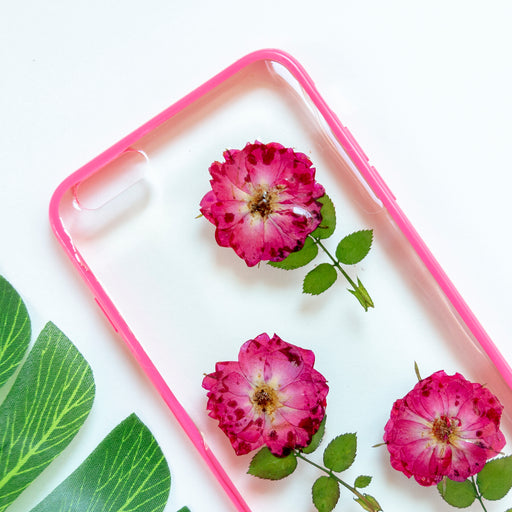 Floral Neverland Floralfy Rose Garden Real Pressed Red Rose Flower Floral Foliage Botanical iPhone 6 Plus 6s Plus Bumper Case 02