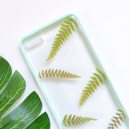 Floral Neverland Floralfy Esmeralda Real Pressed Fern Flower Floral Foliage Botanical iPhone 6 Plus 6s Plus Bumper Case 02