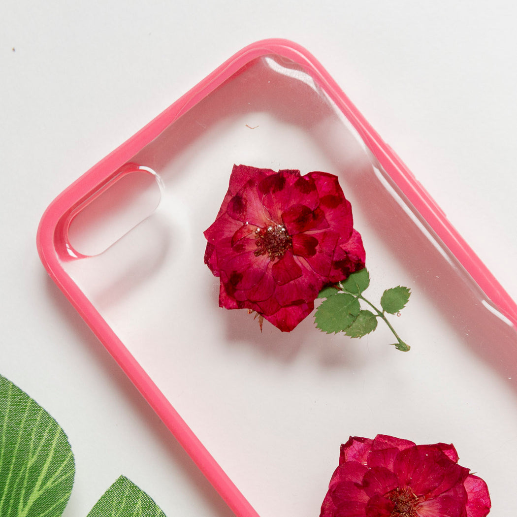 Floral Neverland Floralfy She Blooms Real Pressed Red Rose Flower Floral Foliage Botanical iPhone 5 5s SE Bumper Case 02