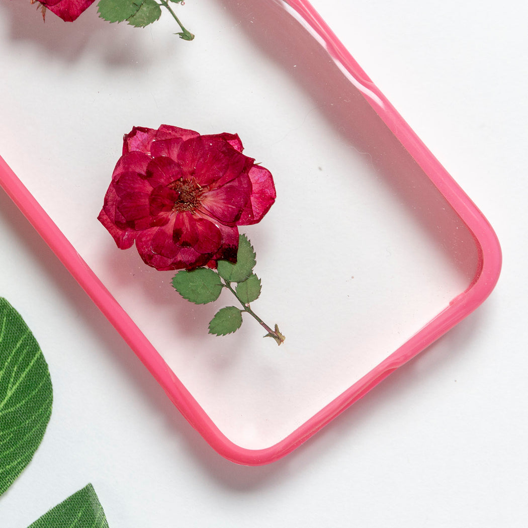 Floral Neverland Floralfy She Blooms Real Pressed Red Rose Flower Floral Foliage Botanical iPhone 5 5s SE Bumper Case 03