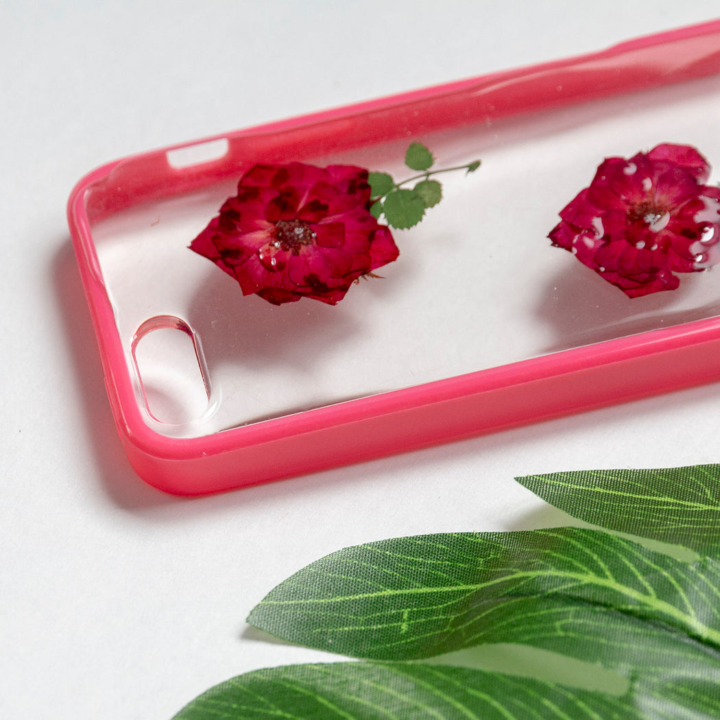 Floral Neverland Floralfy She Blooms Real Pressed Red Rose Flower Floral Foliage Botanical iPhone 5 5s SE Bumper Case 05