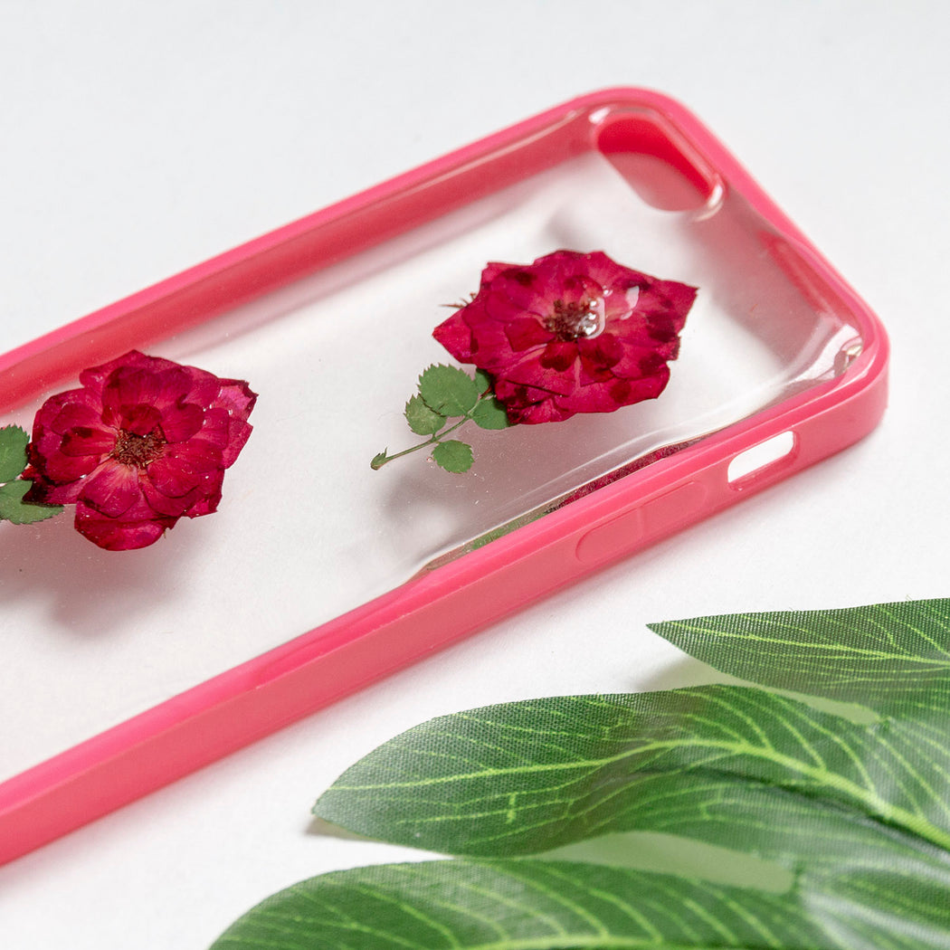 Floral Neverland Floralfy She Blooms Real Pressed Red Rose Flower Floral Foliage Botanical iPhone 5 5s SE Bumper Case 04