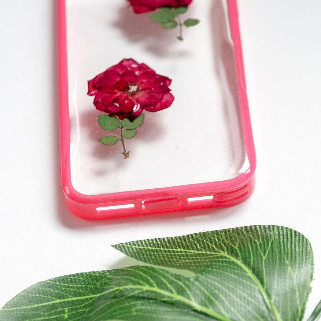Floral Neverland Floralfy She Blooms Real Pressed Red Rose Flower Floral Foliage Botanical iPhone 5 5s SE Bumper Case 06