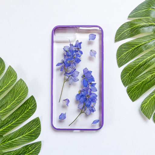 Indigo Purple | Pressed Flower iPhone Bumper Case | iPhone 7/8 Plus