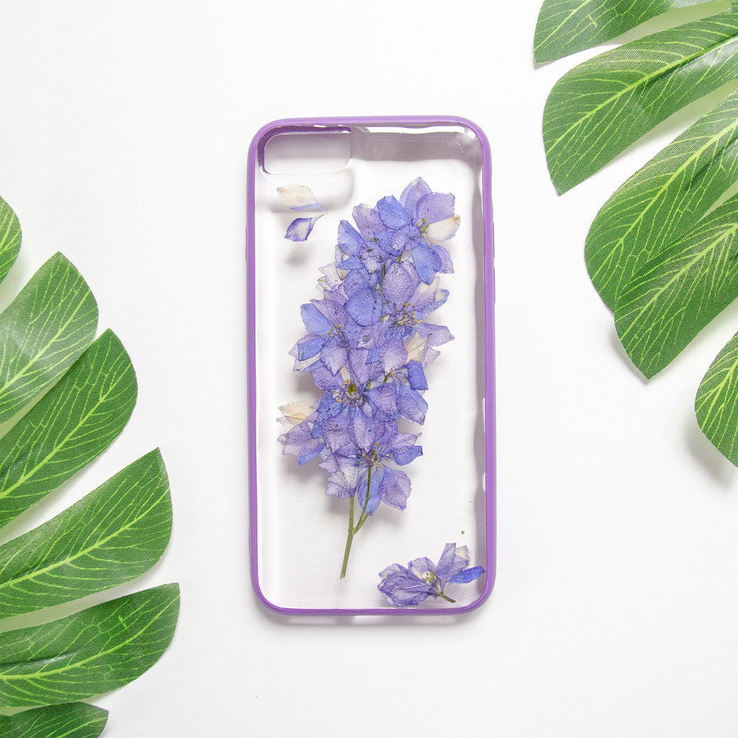 Lavender | Pressed Flower iPhone Bumper Case | iPhone 7/8