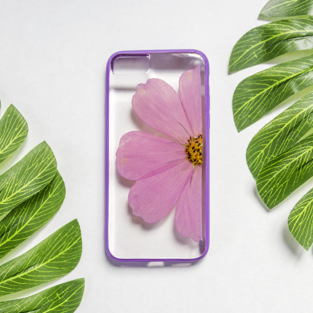 Lilac | Pressed Flower iPhone Bumper Case | iPhone 7/8