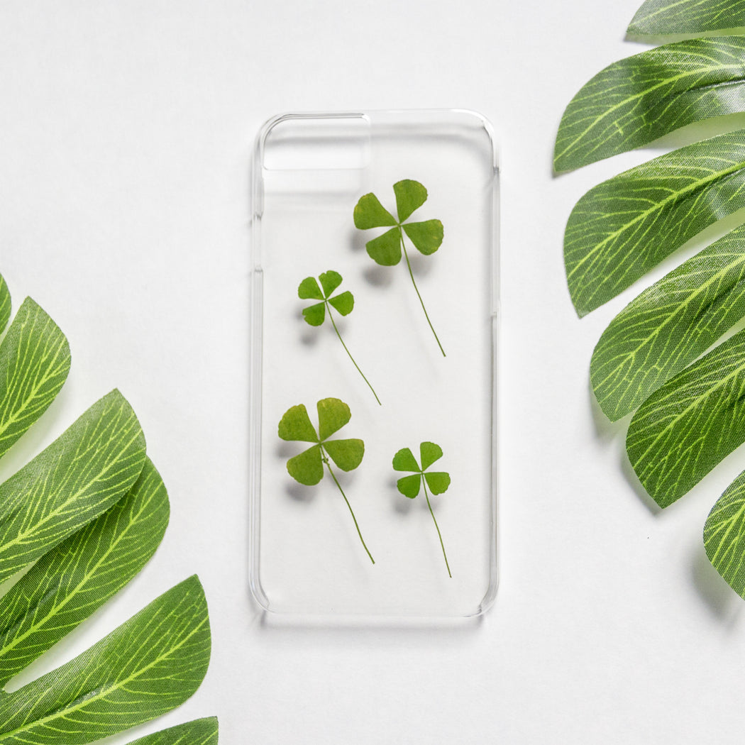 Lucky Charm | Pressed Flower iPhone Case | iPhone 7/8