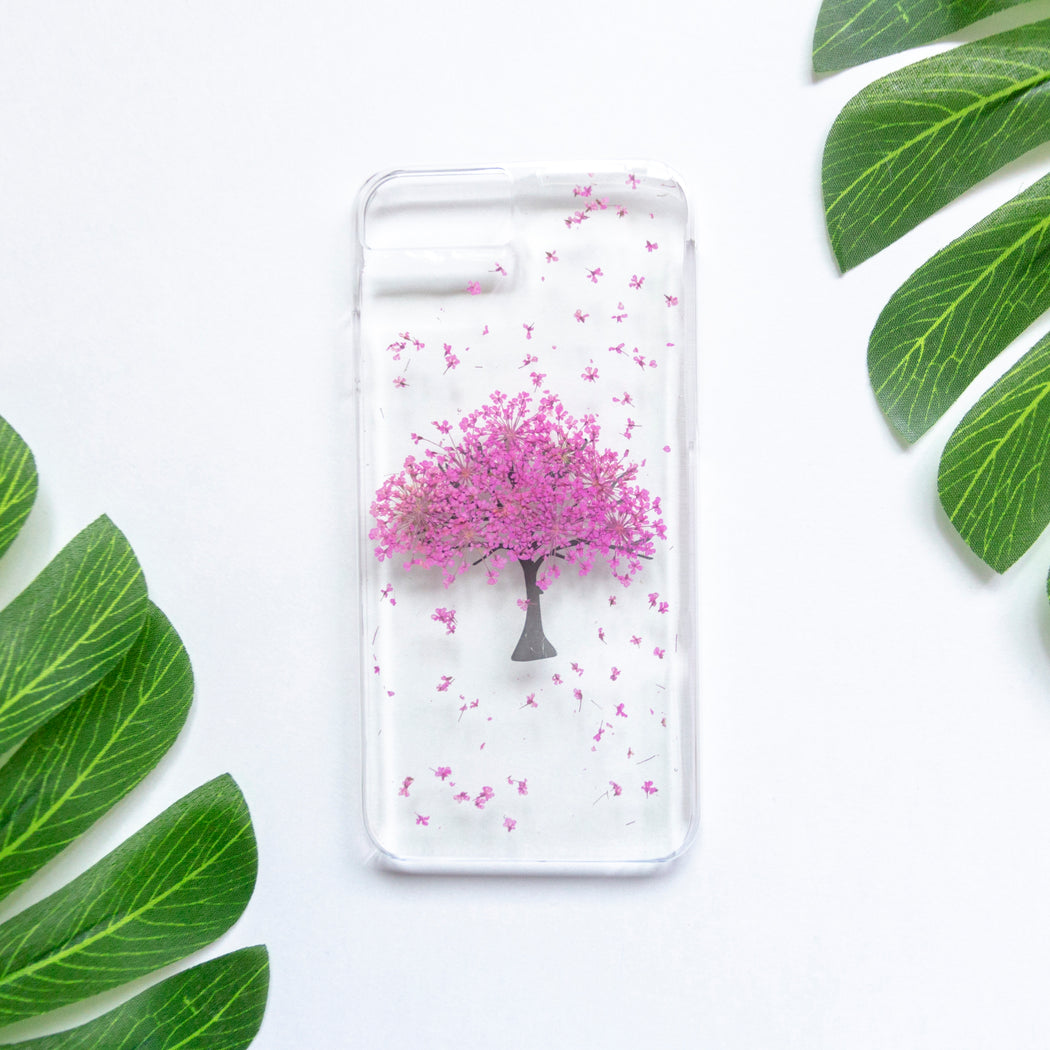 Magenta Tree | Pressed Flower iPhone Case | iPhone 7/8