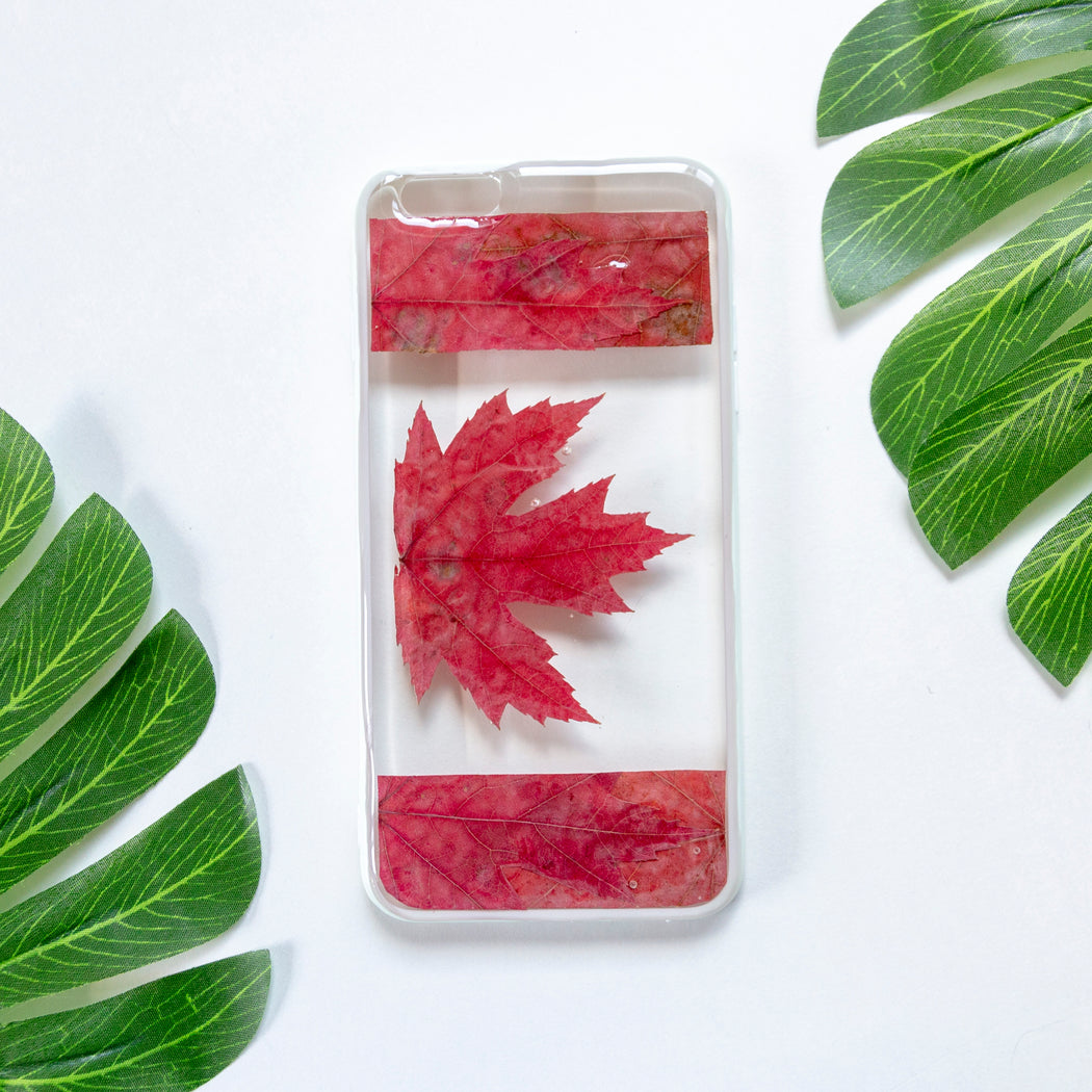 real_pressed_maple_leaf_flower_floral_cute_protective_anti_drop_iPhone_6_6s_plus_bumper_case_oh_canada_floral_neverland_floralfy