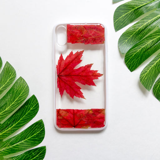Oh Canada | Pressed Flower iPhone Bumper Case | iPhone X/XS