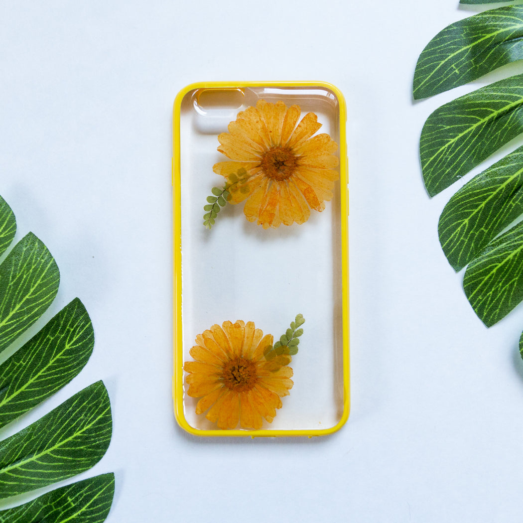 Papaya Whip | Pressed Flower iPhone Bumper Case | iPhone 6/6s