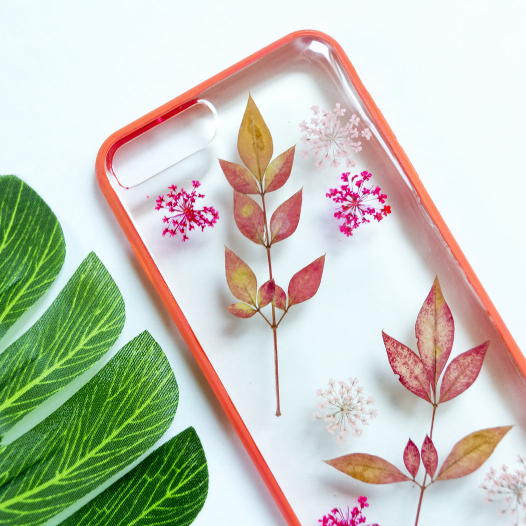 Passion | Pressed Flower iPhone Bumper Case | iPhone 7/8 Plus
