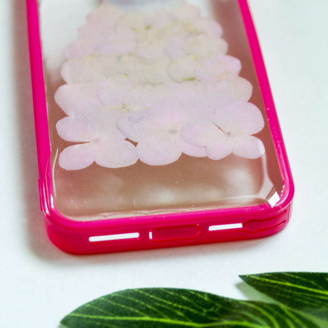 Pink Dress | Pressed Flower iPhone Bumper Case | iPhone 5/5s/SE