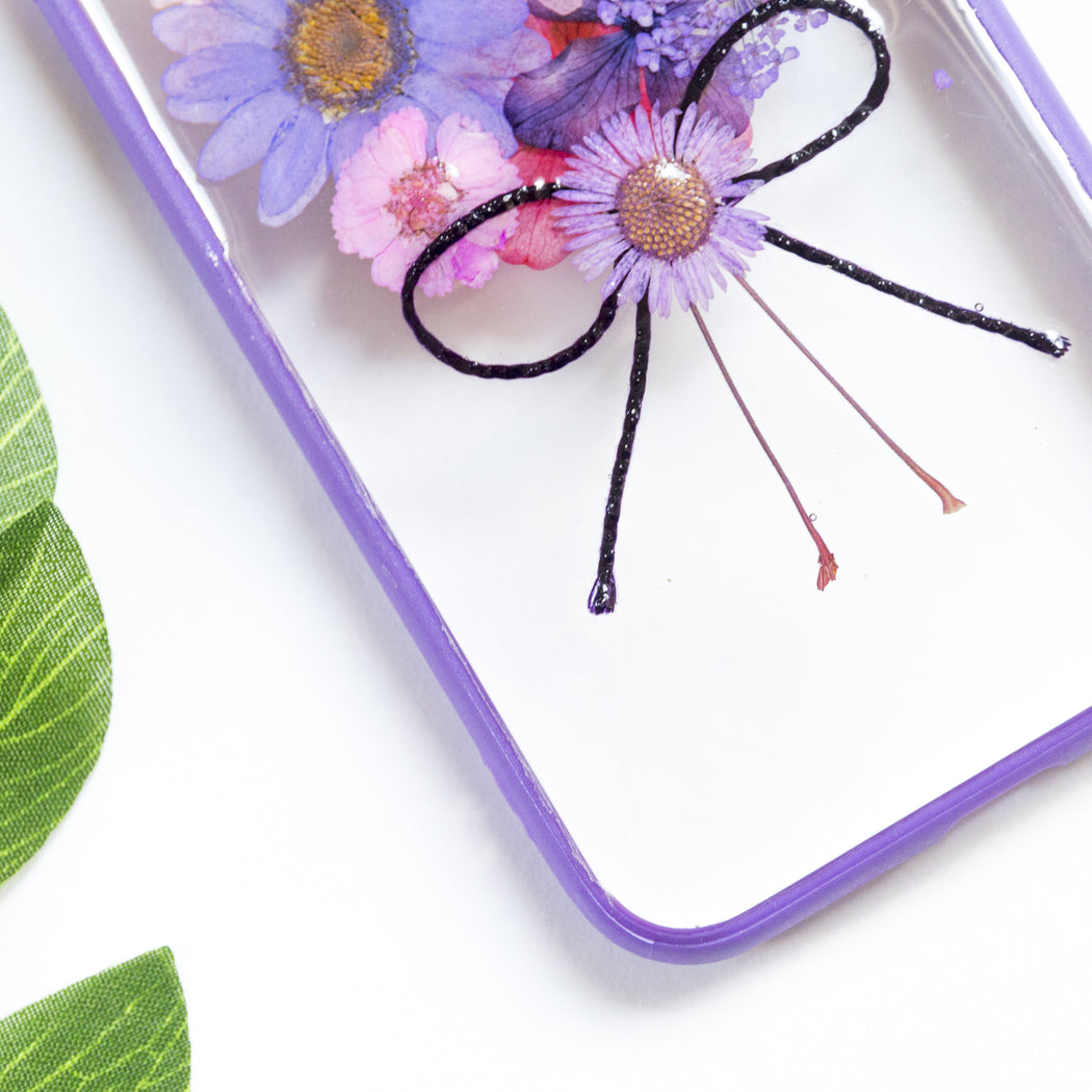 Purple Bouquet | Pressed Flower iPhone Bumper Case | iPhone 7/8
