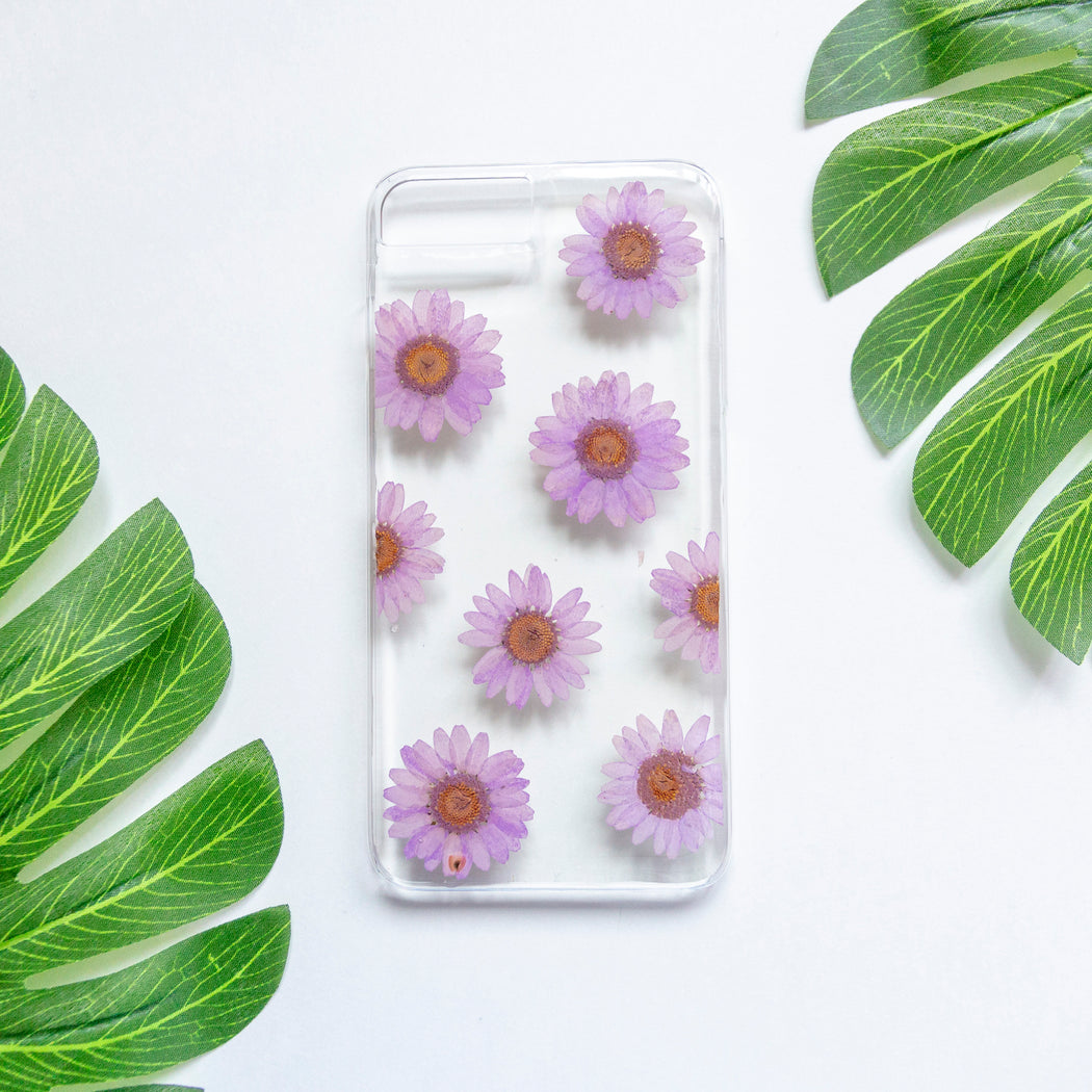 Purple Jewels | Pressed Flower iPhone Case | iPhone 7/8 Plus