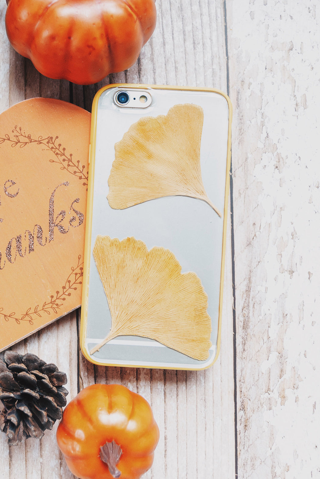 Ginger | Pressed Flower iPhone Bumper Case | iPhone 6/6s