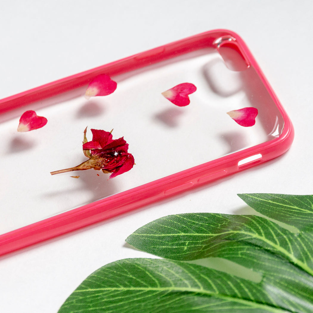 pressed red rose flower cute protective floral iphone 6 6s bumper case aesthetic Rosabella floral neverland floralfy