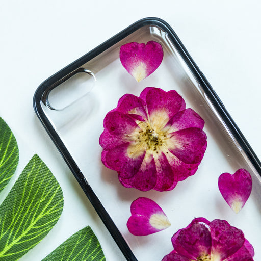 Rose Heart | Pressed Flower iPhone Bumper Case | iPhone 5/5s/SE