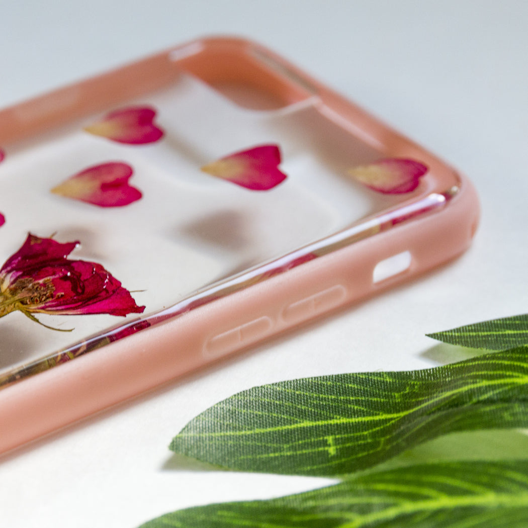 Rose in Her Heart | Pressed Flower iPhone Bumper Case | iPhone 7/8