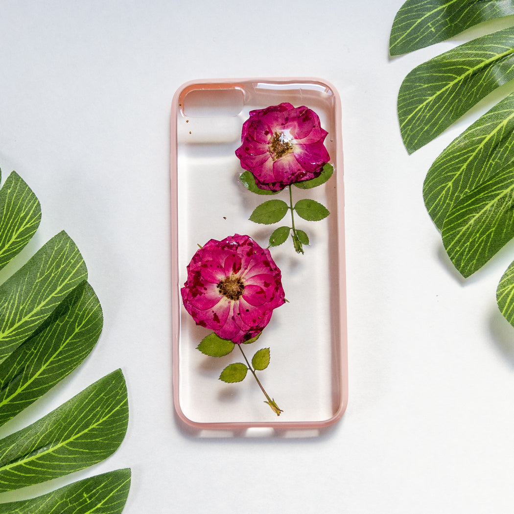 She Blooms | Pressed Flower iPhone Bumper Case | iPhone 7/8