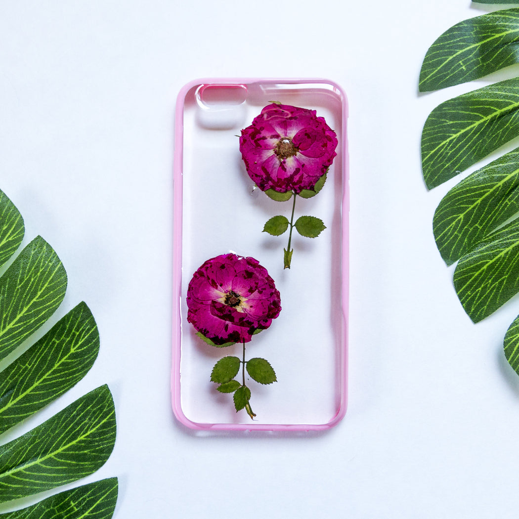 She Blooms | Pressed Flower iPhone Bumper Case | iPhone 6/6s