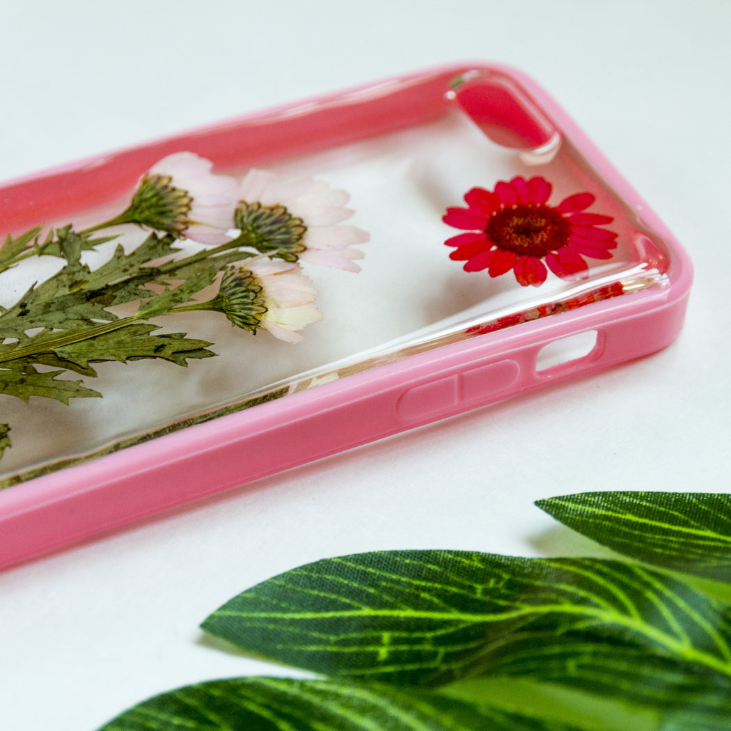 Sunset Time | Pressed Flower iPhone Bumper Case | iPhone 5/5s/SE