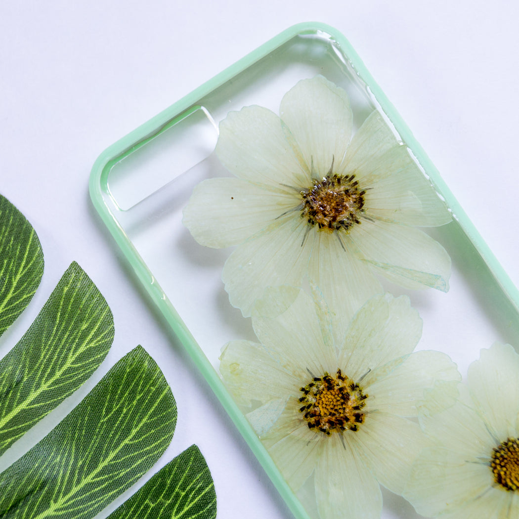 Sweet Mint | Pressed Flower iPhone Bumper Case | iPhone 7/8 Plus